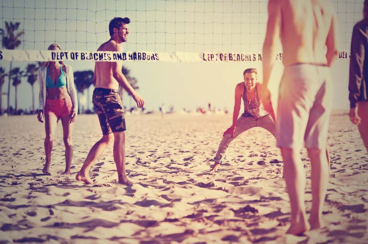 Beach Volleyball in Newquay